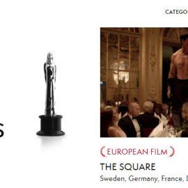 Ganadores de los Premios Europeos, EFA, 2017. The Square, la película europea del año