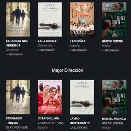 El olvido que seremos y La llorona lideran las nominaciones de los Premios Platino 2021 del Cine Iberoamericano